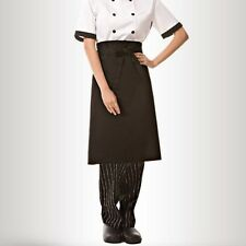 Durable Unisex Black Short Waist Apron with Pocket for Chef /Waiter /Waitress