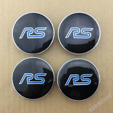 4pcs RS Racing Sport Car Wheel Center Hub Caps Badge Emblem Decal Sticker 60mm
