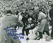 Tommy McDonald HOF 98 Philadelphia Eagles Autographed Signed 8x10 Photo JSA PSA