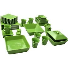 Discount Dinnerware Set 45 Piece Square Bowls Party Guests Kitchen Dinner:1 Left