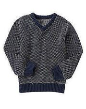 NWT Gymboree Boys Sweater Weather Navy & Gray Two Tone Knit Sweater Size XS & S