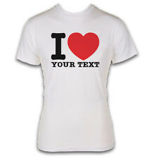 I HEART YOUR TEXT T-SHIRT - RETRO DESIGN - WHITE GILDAN SOFTSTYLE - GREAT GIFT