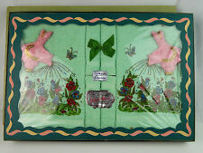NOS Vintage Cannon Green Bathroom Terry Cloth & Towel Set by Joyce Morris Kitsch