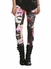 THE ROLLING STONES MICK JAGGER ANGIE PAINT IT BLACK WOMENS LEGGINGS PANTS NWT