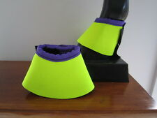 Horse Bell or Overreach Boots Yellow & Purple AUSTRALIAN MADE Protection