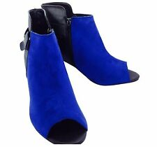Large Size EVANS Ladies Men's Blue/Black Ankle Boots Size UK 9/10  DRAG CD TV