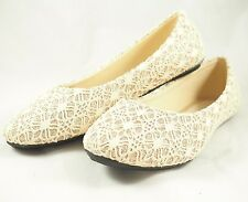 Gold Sparkle Glitter Comfy Round Toe Ballet Women Flat Shoes
