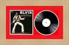 """Picture Photo Frame for Single 7"""" Vinyl LP Record with Album Cover   Red Mount"""