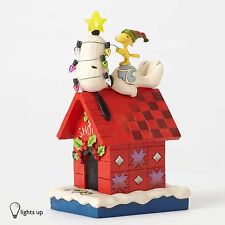 Merry and Bright-Snoopy Light Up Dog House Figurine by Jim Shore- 4052719 - NIB!