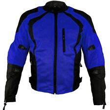 Xelement 'Cyclone' Men's Black/Blue Mesh Tri-Tex Armored Motorcycle Jacket