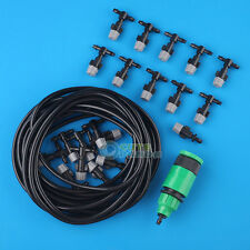 20M 66FT Outdoor Garden Patio Misting Cooling System with Plastic Mist Nozzle