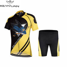 Children's Cycling Jersey Kit Bike and Shorts Set Kids Bicycle Clothing Shark