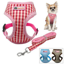 Soft Grid Vest Small Dog Puppy Harness and Leash Set for Chihuahua Yorkie Poodle