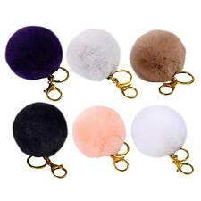 Fur Fluffy Rabbit Hair Ball Key Chain Clip Fuzzy 6colors option Hotsell