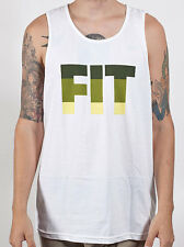 BMX Tank Top FIT Bike Co FBC Striped Tank (White)