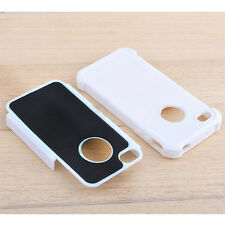 For Apple iphone 4 4s Silicone Case Soft Gel Cover Combo Hard Soft Rubber Skin