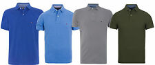 Tommy Hilfiger Polo Shirt Regular Fit Tommy Knit 4 Colours 100% Genuine New