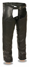 Men's Deep Thigh Slash Pocket Leather Chaps w/ Full Mesh Liner