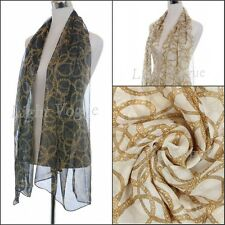 Womens Lady Chiffon Silk Long Soft Neck Scarf Shawls Wraps Scarves Stole Fashion