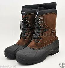 """LABO Men's Brown 10"""" Winter Snow Hunting Boots Shoes Waterproof Insulated 108"""