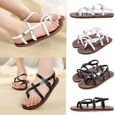 Summer Ladies Casual Flat Heel Womens Casual Gladiator Sandals Flat Office Shoes