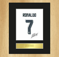 Cristiano Ronaldo Signed Mounted Artistic Photo Display Real Madrid