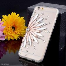 Crystal Diamond Sunflower Soft TPU Back Case Cover For Apple iPhone 6/6S Plus