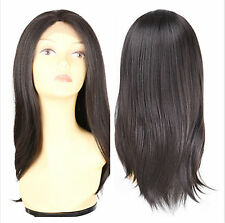 CRYSTAL Synthetic Hair Wigs 20 Inch Straight Synthetic Lace Front Wigs 5 Colors
