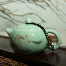 200ml Chinese porcelain tea set fish tea pot portable teapot women tea pot green