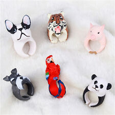 Fashion New Lovely Cartoon Resin Animal Finger Rings Animal Design Jewelry WLK