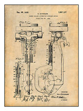 1925 Evinrude Outboard Motor Patent Print Art Drawing Poster 18X24