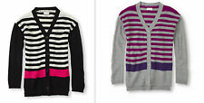 The Childrens Place Girls  Striped Knit Cardigan Sweater S 5/6 M 7/8 L 10/12 NWT