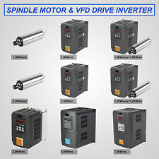 Four Bearing ER20 Spindle Motor 1.5KW-7.5KW Water-Cooded&VFD Inverter Drive CE