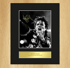 Michael Jackson Signed Mounted Photo Display