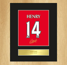 Thierry Henry Signed Mounted Artistic Photo Display Arsenal Legend