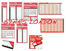 2017 Wall Calendar Slim/Easy/Large MTV/Giant/Yearly Staff Holiday Planner