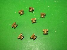 8 BRASS KNURLED NUTS SOUNDER RELAY KOB BUG MORSE CODE TELEGRAPH KEY PART
