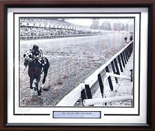 Horse Racing Ron Turcotte Riding Secretariat Framed & Matted Photo