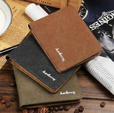 Vintage Canvas Wallets Thin Slim Small Mens Wallet Zipper Short Bifold Purse