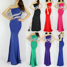 Sexy One Shoulder Long Mermaid Womens Formal Ball Prom Dress Party Evening Gown