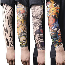 1/2/14X Nylon Fake Temporary Tattoo Sleeve Arm Stockings Tatoo For Men Women ES