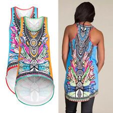 Womens Sexy Personalized Floral Print Sleeveless Tank Crop Tops Vest Blouse 2016