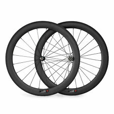 700C 50mm Clincher Straight Pull Carbon Road Bike Wheels Racing Bicycle Wheelset