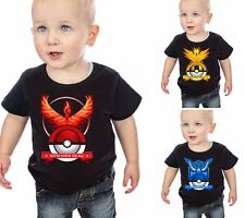 Kids Cartoon t Shirt Baby Boys Short Sleeve Pokemon Pokeball Summer Tee Tops