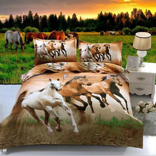 Running Horse Double/Queen/King Size Doona/Duvet Quilt Cover Bed Set Pillowcases
