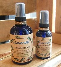 Natural Organic LAVENDER Aromatherapy Body Spray Mist Pure Essential Oils