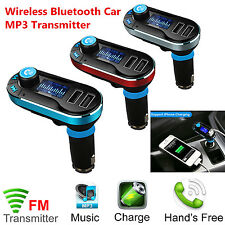 CAR FM RADIO TRANSMITTER MUSIC MP3 PLAYER 2.1A Dual USB Car Charger For Phone