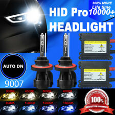 2x Conversion Kit HID Headlight Light Bulb Dual Beam Bi-Xenon 9007 DBK 55W Hi-Lo