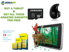 """UNLOCKED 7"""" ANDROID TABLET WIFI 3G  Samsung 8GB SD Cheap Basic SMARTPHONE TAB PC"""