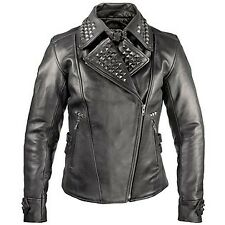 Xelement Women's Punk Studded Biker Jacket